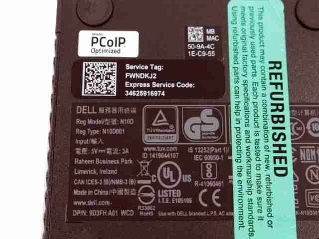 Dell Wyse 3040 Thin Client Intel 1 44GHz 2GB RAM 8GB SSD THINOS 8 3 RJ45  9D3FH